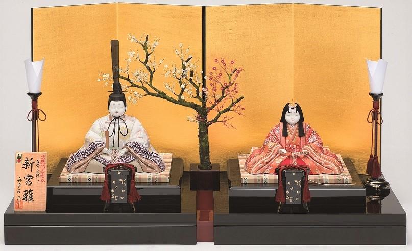 真多呂人形 親王飾り「新宮雛セット」品番:1260 伝統的工芸品