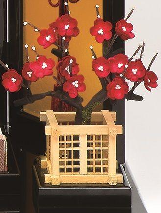 真多呂人形 富士雛セット(正絹紅白梅)