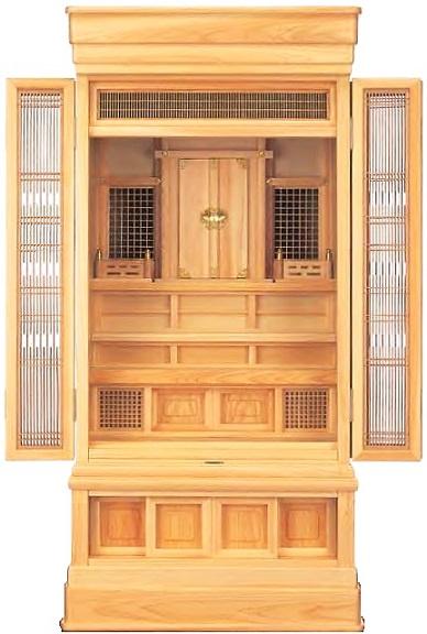 神徒壇「桧」高台20号 地袋付仏間用
