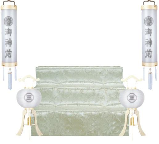 神道用提灯と祭壇