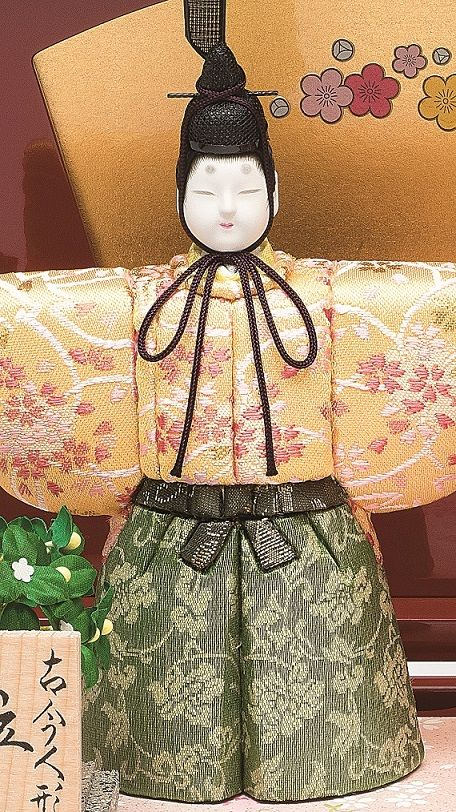 真多呂人形 春桜立雛(男雛)