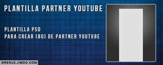 Plantilla partner youtube