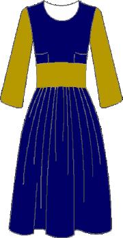 Robe jupe plissée