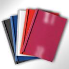 Klebebindemappen für Thermobindegeräte, diverse Farben und Dicken
