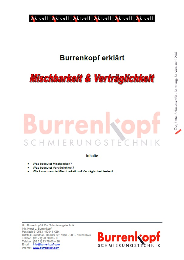 BURRENKOPF ERKLÄRT: Mischbarkeit und Verträglichkeit von Ölen