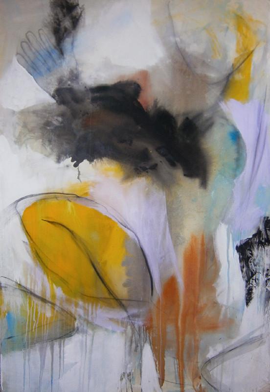 VERKAUFT  - Acrylics on canvas 160 x 110 x 4 cm