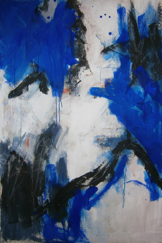 VERKAUFT  - Acrylics on canvas 160 x 110 x 4 cm  > SOLD <