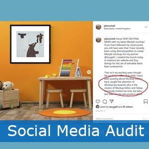 art business social media audit
