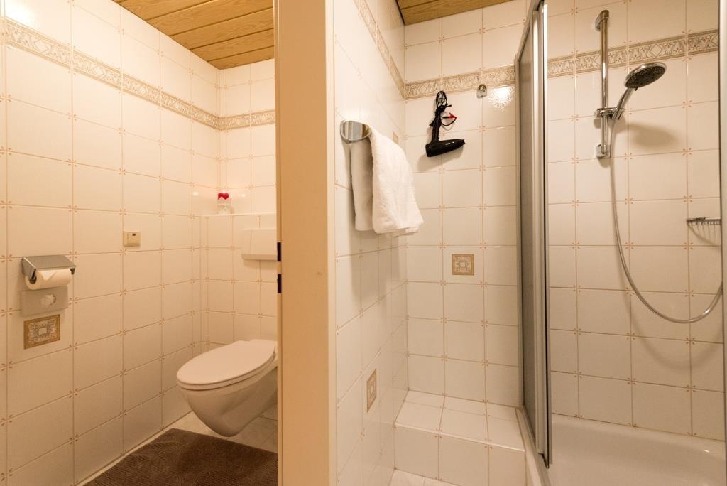 Dusche und WC sind getrennt.