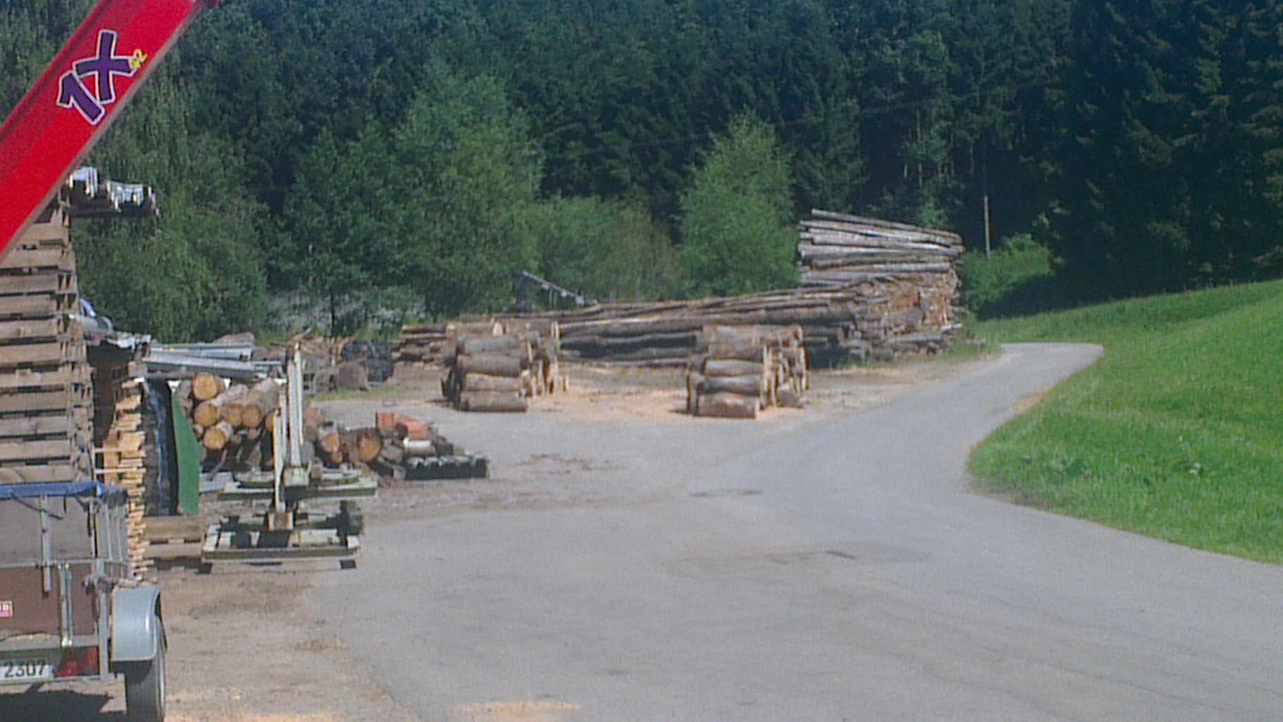 Meterholz vorbereitet