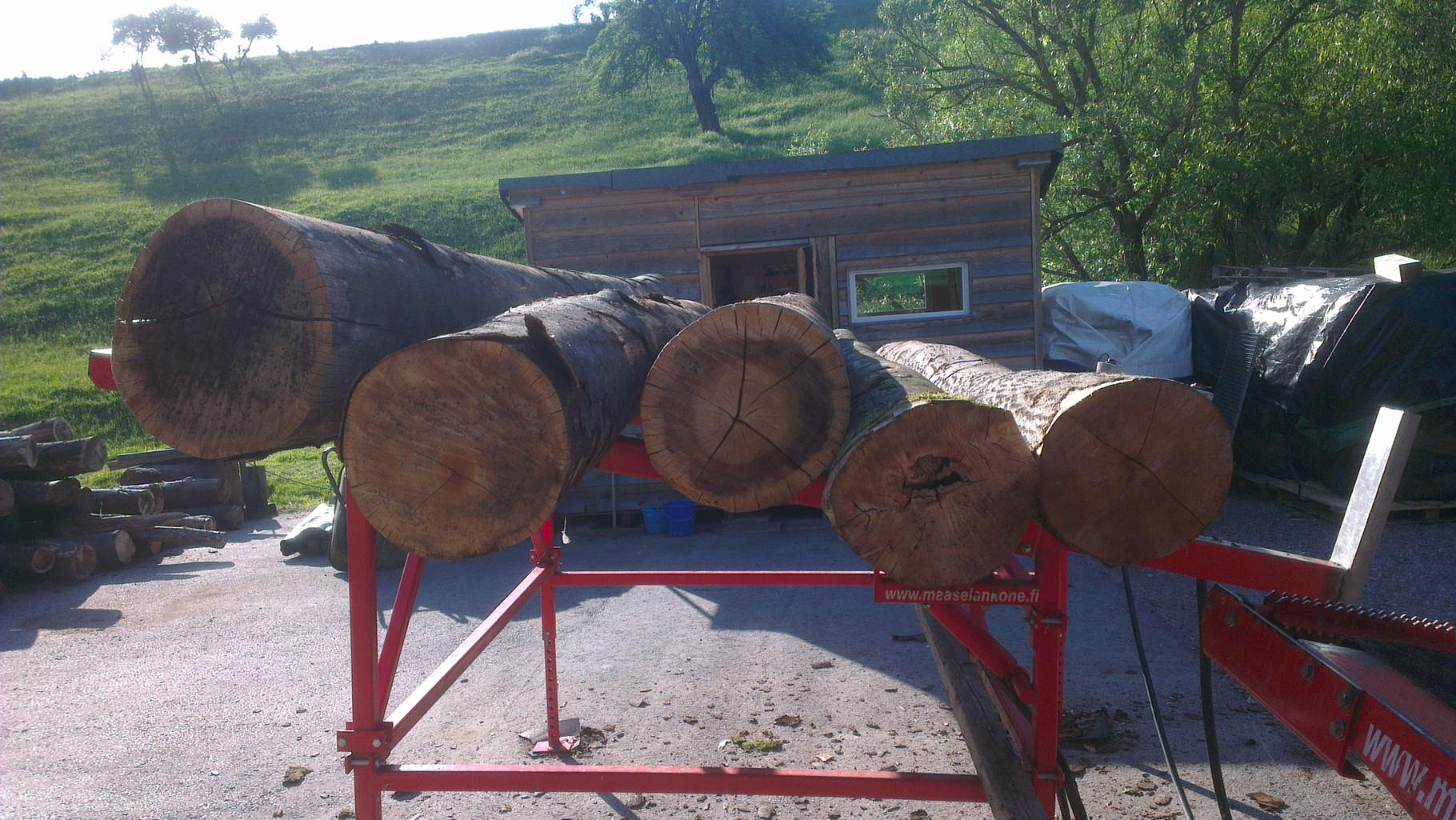 Holz auf dem Ablagetisch
