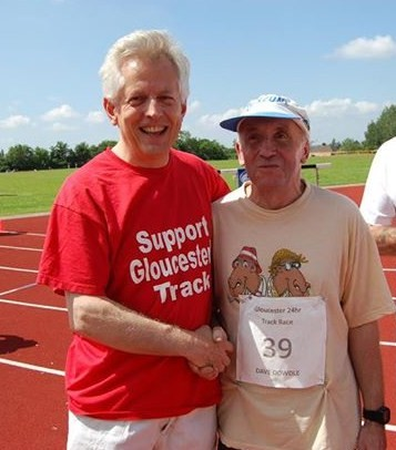 Gloucester MP Richard Graham with UK Record Holder and former World Record holder for 24 hours track, Dave Dowdle