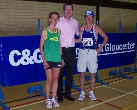 C&G Gloucester branch manager Dave Kelly presented the prizes