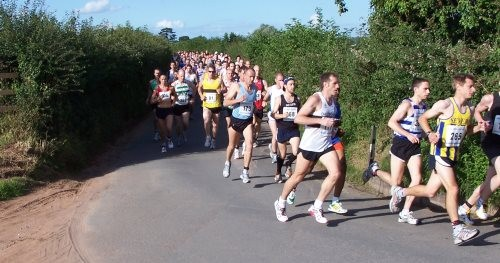 Start of the 2009 Gloucester Half Marathon