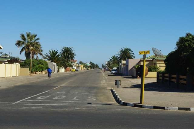 Rue déserte de Walvis Bay