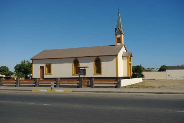 Eglise préfabriquée importée d'Allemagne à la fin du 19ème - Walvis Bay