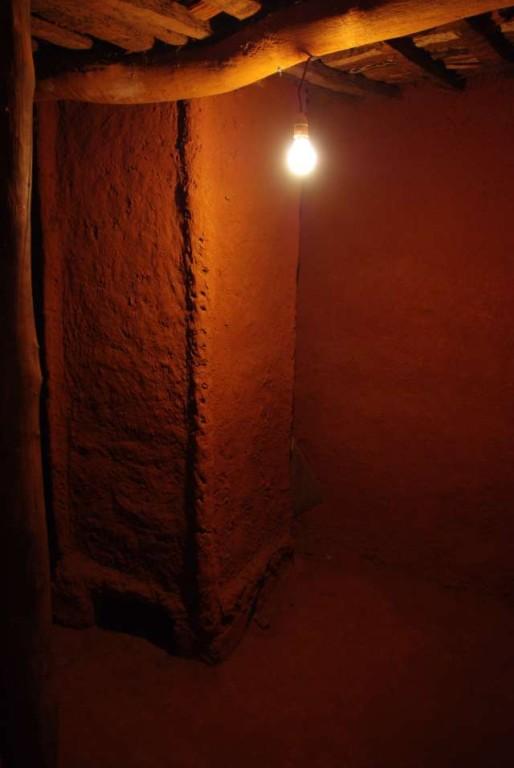 Chambre de la mère et son grenier intérieur (particularité bobo ; souvent en Afrique de l'Ouest, les greniers sont à l'extérieur des habitations)