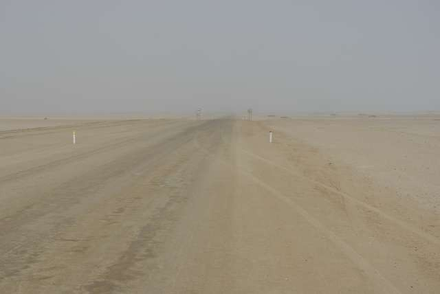 Skeleton coast et son brouillard (fog)