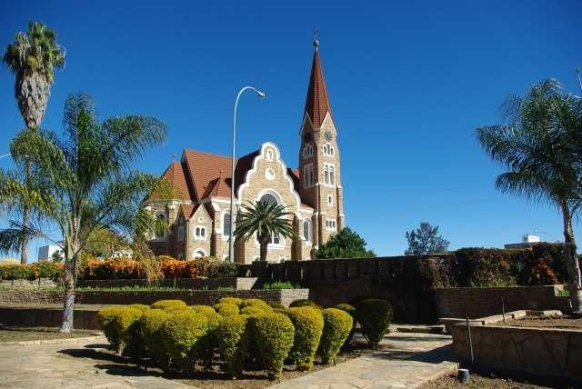 Windhoek - église luthérienne symbole de la ville