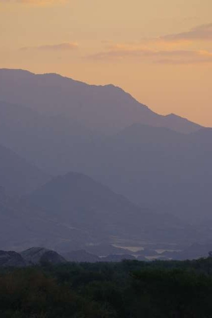 Coucher de soleil sur les Brandberg Mountains