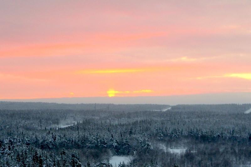 Первое солнце в Хибинах в 2012 году
