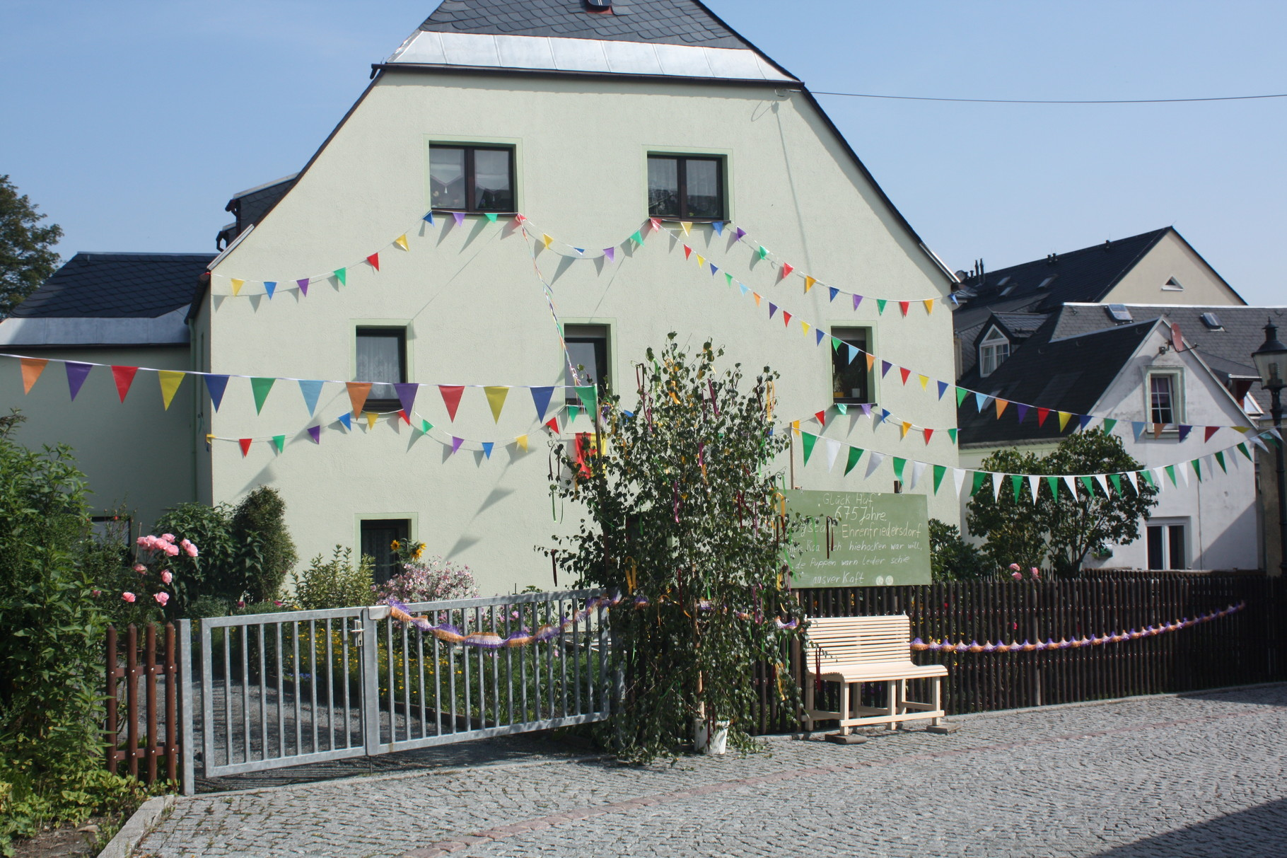 Unser Haus zur 675 Jahrfeier von Ehrenfriedersdorf
