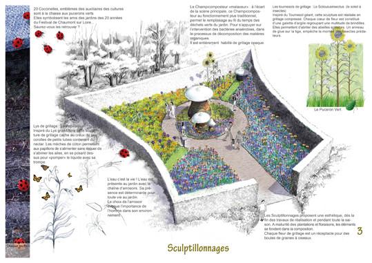 Jardin des Sculptillonnages © Festival des Jardins de Chaumont sur Loire