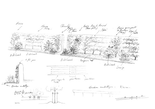 Projet en Touraine - Le mur du Verger ©