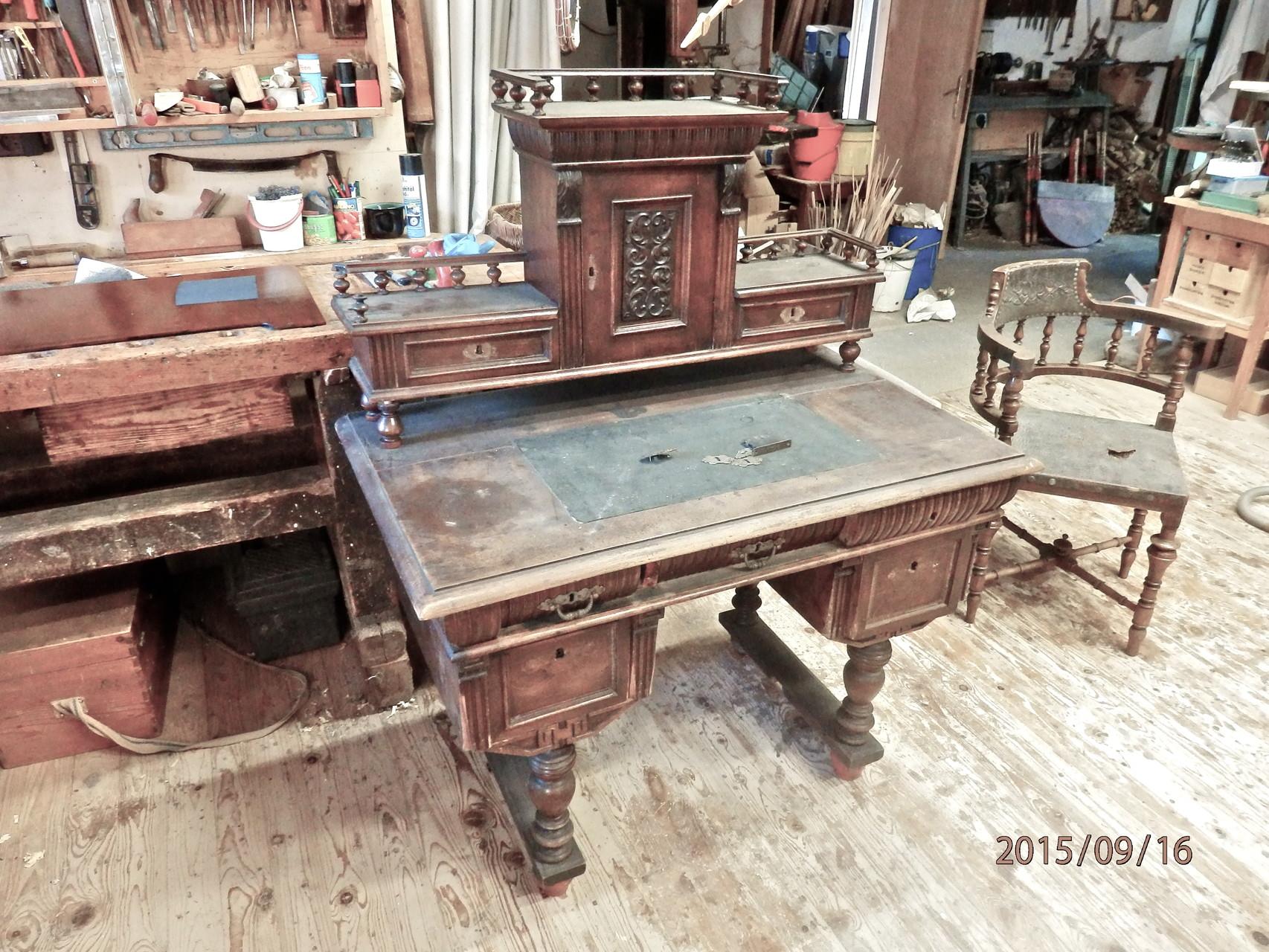 Schreibtisch restaurieren - Mobel selbst restaurieren ...