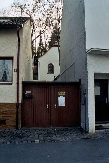 Blick zur Synagoge von der Wormser Straße