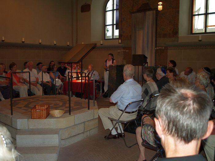 Während des Vortrages von  Rabbiner Dr. Leo Trepp