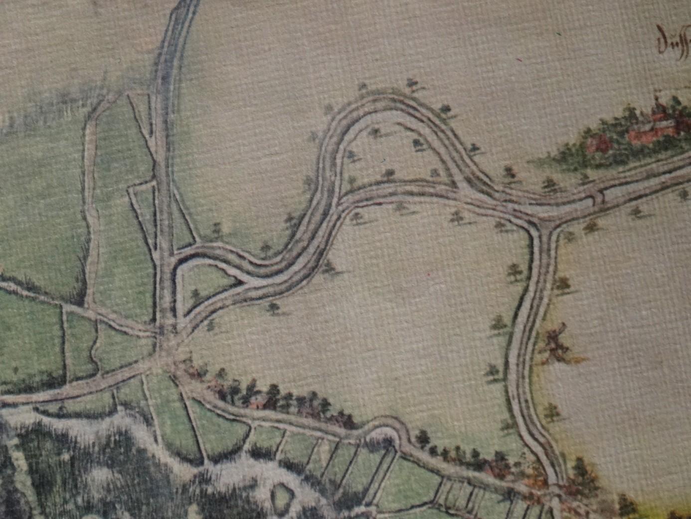 Dussendijk kruispunt /Oude straat anno 1562