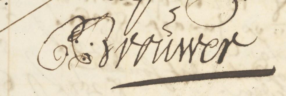 Handtekening Cornelis Brouwer 1703