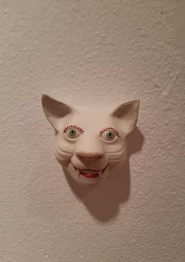 Katze-Wandtier von Margit Russnig, 52.-