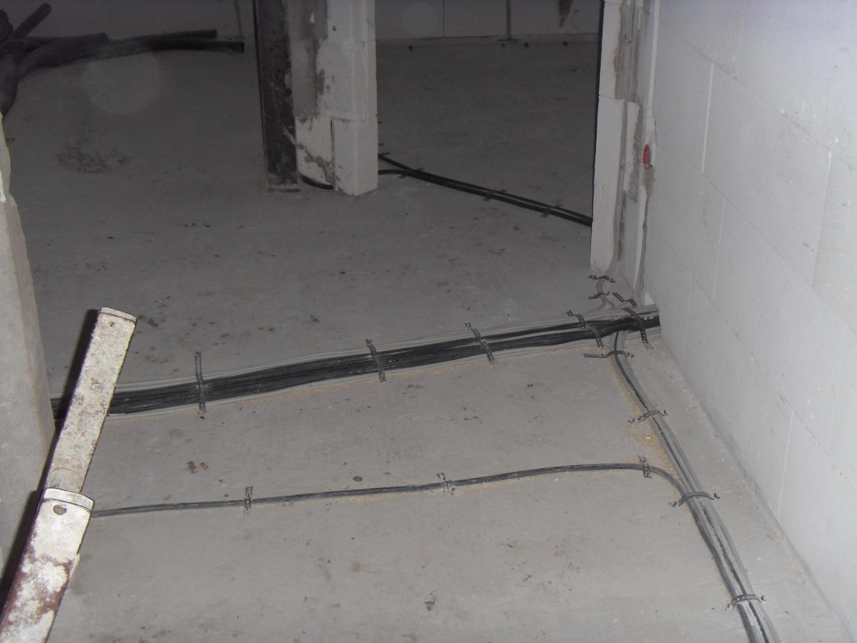 Kabelwege Obergeschoß
