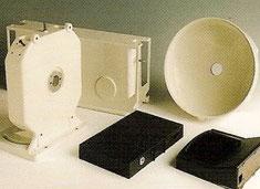 Pièces électroniques traitées chez Poudrex pour satisfaire la haute qualité de traitement nécessaire.