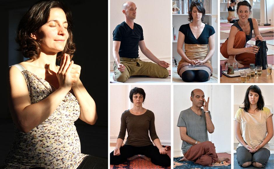 Assise silencieuse et Méditation à la fin de la séance de Hatha Yoga - Pranayama - Mudra