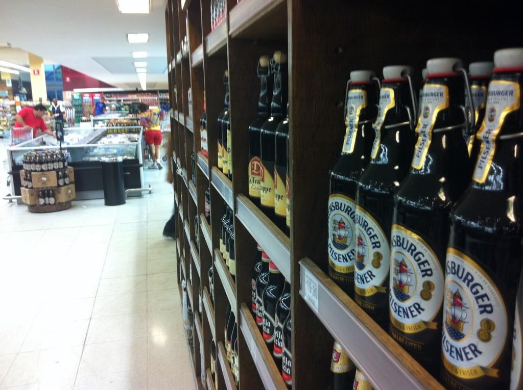 Überraschung im Supermarkt