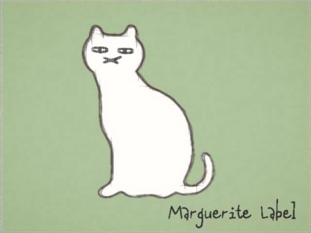 猫さんイラスト マーガレットレーベル 真鍮ブローチにして京都手作り市 岐阜手作り市にて販売します