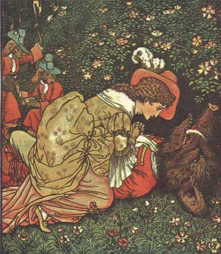 La Belle et la Bête, illustration de Walter Crane (1874).