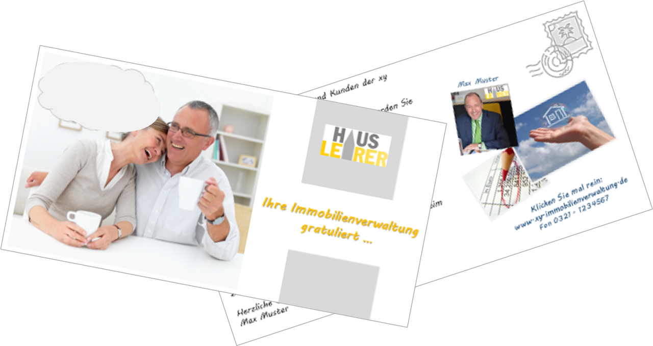 Geburtstag Postkarte Für Hausverwaltungen Produkte Vorlagen