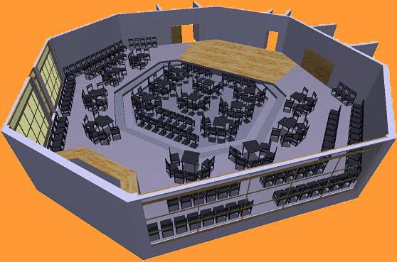 Bestuhlung 2: 3D-Ansicht