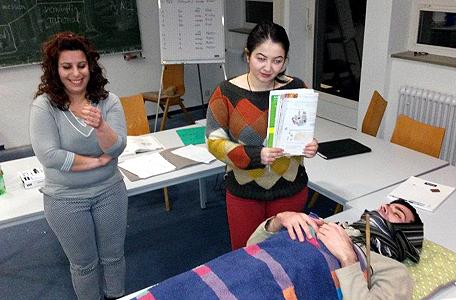 Deutschkurs für Geflüchtete im Stephansstift ZEB