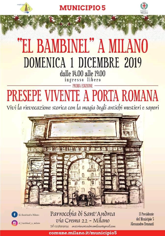 El Bambinel a Milano - Presepe vivente a Porta Romana - Legatoria Conti Borbone