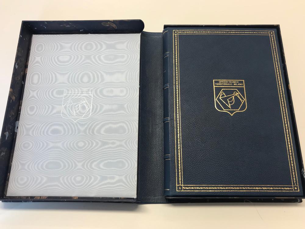 Aeronautica Militare - libro ospiti in pelle stampa oro - Conti Borbone