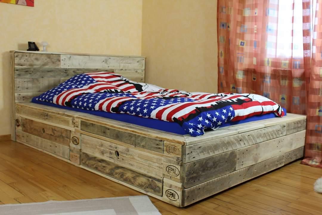 Betten aus Europaletten