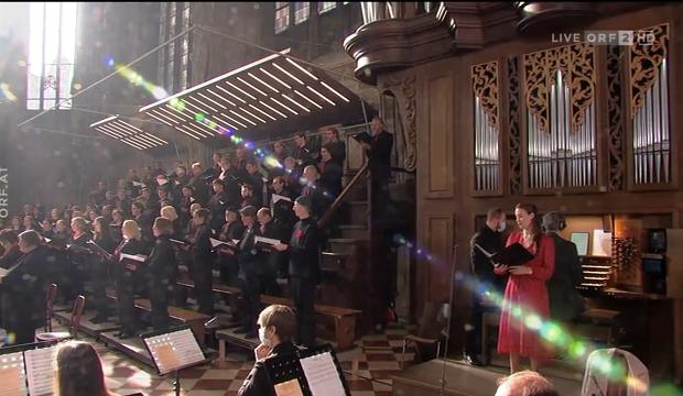 bei der Orgelweihe im Wiener Stephansdom am 4.10.2020