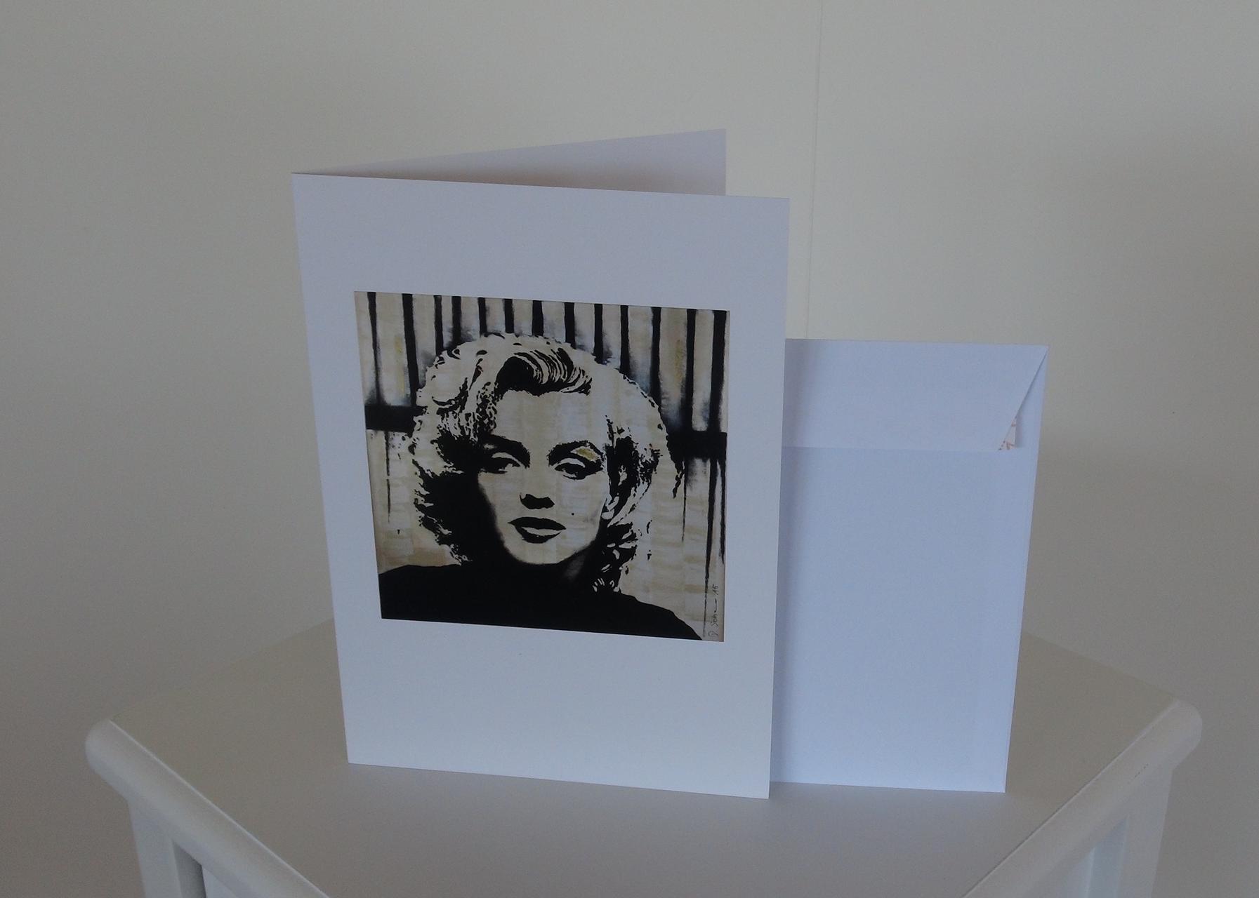 Kunstkarte Daniela Schorno Pop Art Deco Marilyn Monroe