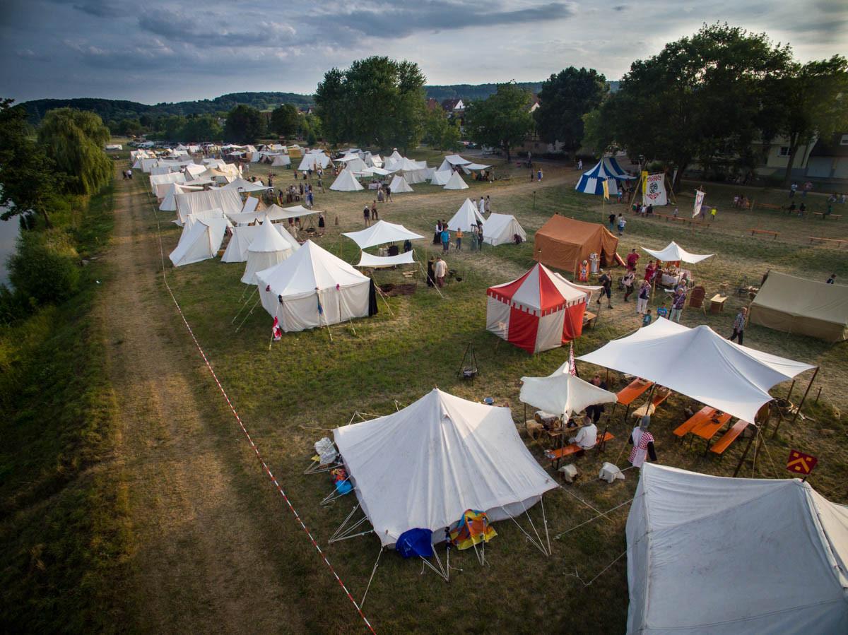 unser Lager von oben