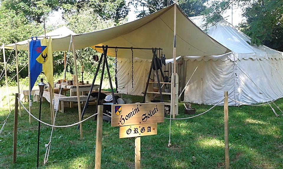 das Zelt der Orga, hier gab es auch Frühstück :-)